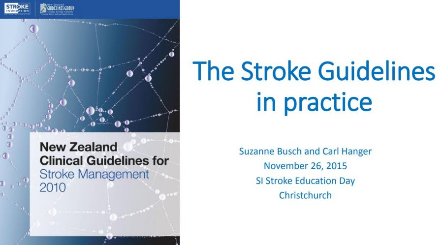 The Stroke Guidelines in practice