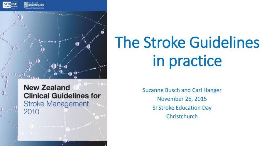 The Stroke Guidelines in practice