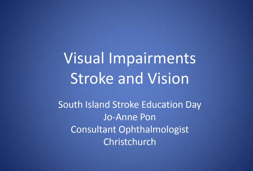 Visual impairments Stroke and Vision